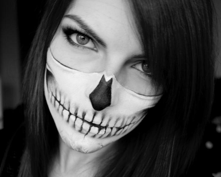 skull makeup skull bandana