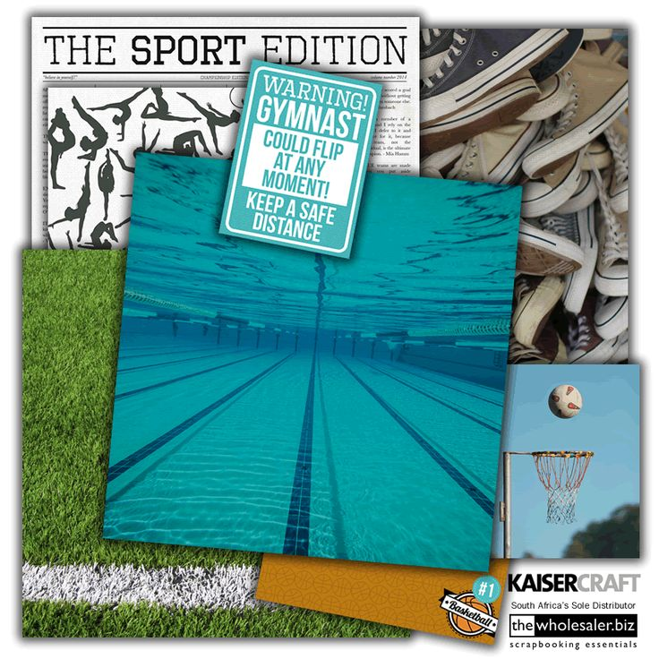 """Tie up your laces and pile on the sunscreen, its """"Game On"""". If you have been holding out for a sporting collection than it is time to celebrate, this range has more sport than the Olympics! All your favourites are here, so kick the winning goal and pick it up today. @Kaisercraft #scrapbooking"""
