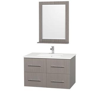 Centra Grey Oak 36-inch Single Bathroom Vanity Set