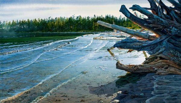 Удивительные акварельные пейзажи Кэрол Эванс художник, Искусство, картина, акварель, длиннопост