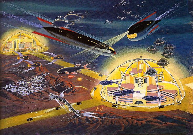 Underwater atomic city, 1953