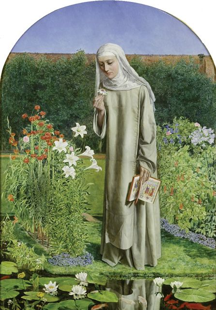Convent Thoughts, Charles Alston Collins, (exhibited at the Royal Academy 1851)