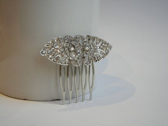 Diamante Hair Comb Art Deco Hair Comb Bridal by JewellerySmith