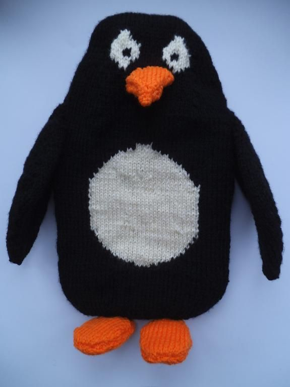 Penguin Hot Water Bottle Cover - via @Craftsy