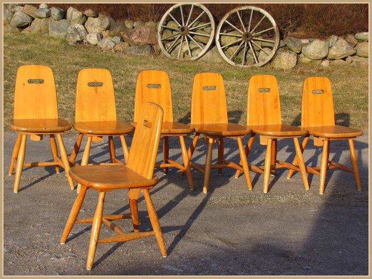 """PIRTTI"" chairs, designed by Eero Aarnio for Laukaan puu Ltd"