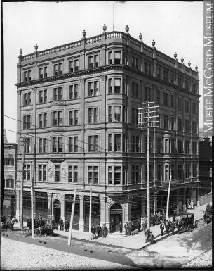 Queen's Hotel, Peel Street, Montreal, QC, about 1895