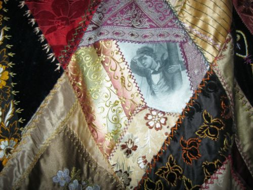 Antique Crazy Quilt from Fall River, Mass. HeyDay of Textile Manufacturing