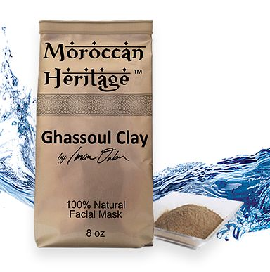 Rhassoul Clay (Ghassoul) Facial Mask. Ghassoul is 100% natural clay, with hydrating and purifying properties.  Ghassoul clay helps skin regenerate;  Reduces sebum secretion and closes open pores;  It calms and purifies oily skin, with dilated pores and comedones;  It improves skin texture and firmness;  The high concentration of silicium is ideal for mature skin, helping restructuring the collagen and elastin fibers;  and much more...