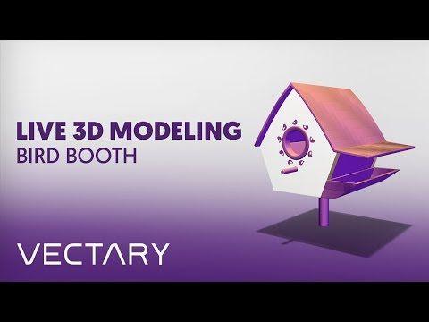 VECTARY Live 3D Modeling   Bird booth - YouTube    #christmas #decoration #christmasdecor #ChristmasTree #howto #decor #christmastime #bird #booth