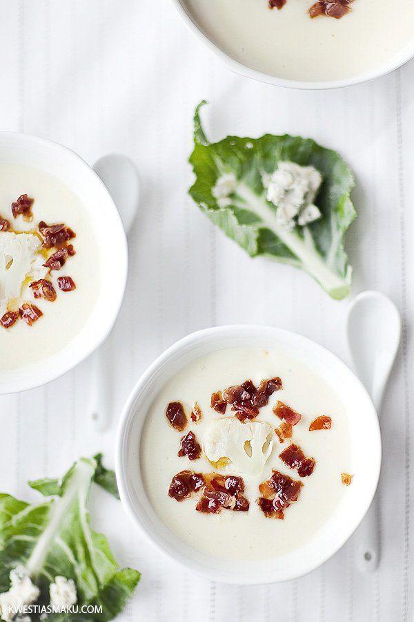 Zupa krem z kalafiora z wiórkami szynki parmeńskiej