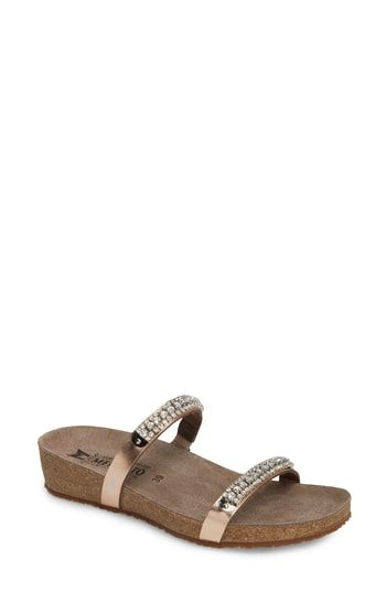 b6eb90ae04e7 Mephisto  Ivana  Crystal Embellished Slide Sandal