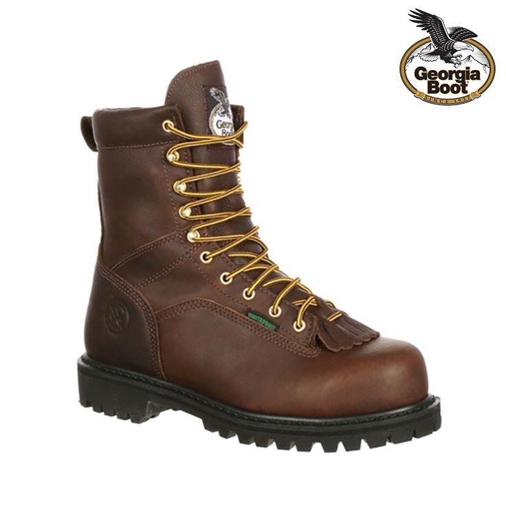 Georgia Boot Men S Lace To Toe Waterproof Steel Toe In 2020 Georgia Boots Work Boots Men Work Boots
