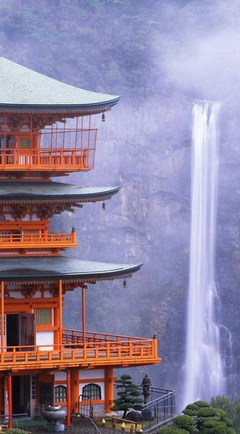 Nachi Falls in Nachikatsuura, Japan