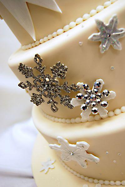 Winter Wonderland Wedding Cake by Pink Cake Box