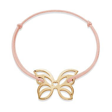 Choose a light jewel for Spring: the openwork Butterfly for bracelet! Jewel available in 23k gold-plated and 925 silver #lilou #butterfly #spring #light #openwork #bracelet
