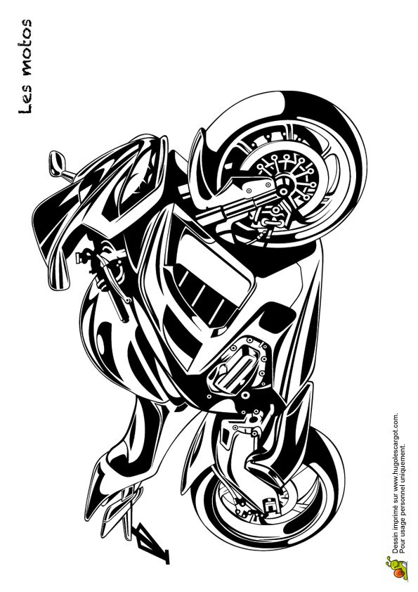 Motorcycle Coloring Pages Harley