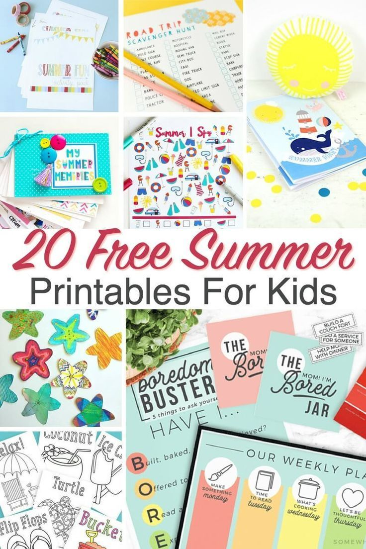 20 Free Summer Printables For Kids With Images Summer