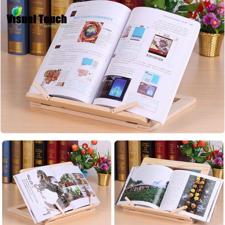 Aliexpress.com: Compre Multi uso de Madeira De Madeira Titulares Receita Bookstand Cook Book Stand Mastress Presente Do Amor de confiança presente licor fornecedores em Visual Touch