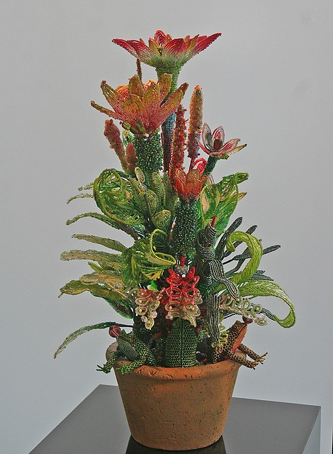 Mario Rivoli Beaded Flower Arrangement