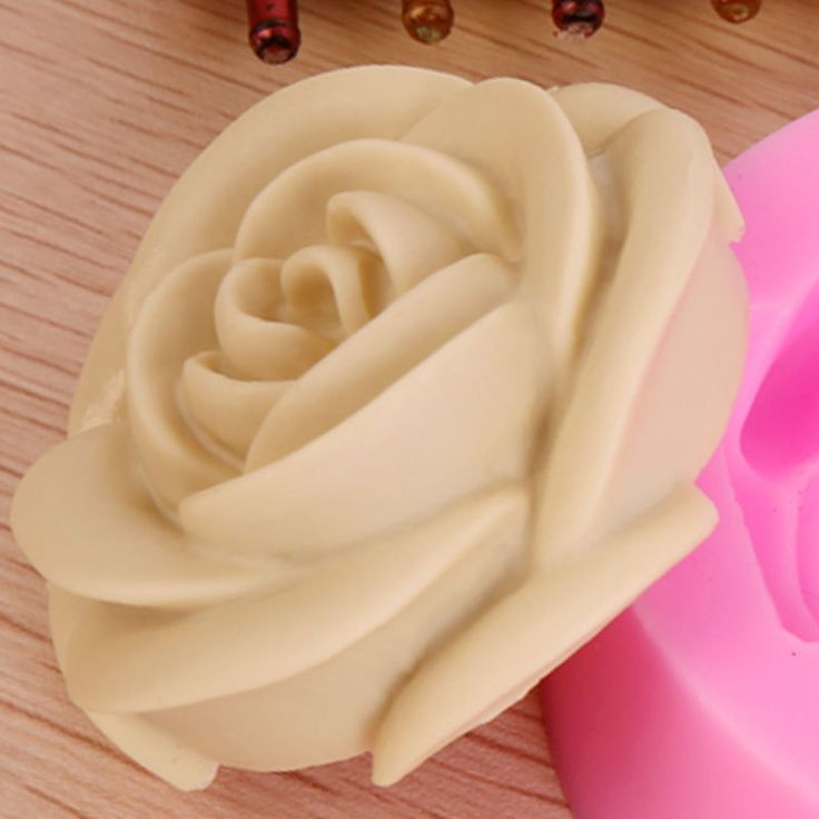 3D Rose Flower Fondant Cake Chocolate Sugarcraft Mold Cutter Silicone Tools CS