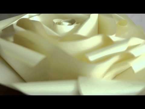 Видео мастер класс. Большие бумажные розы от Светланы Копцевой - YouTube