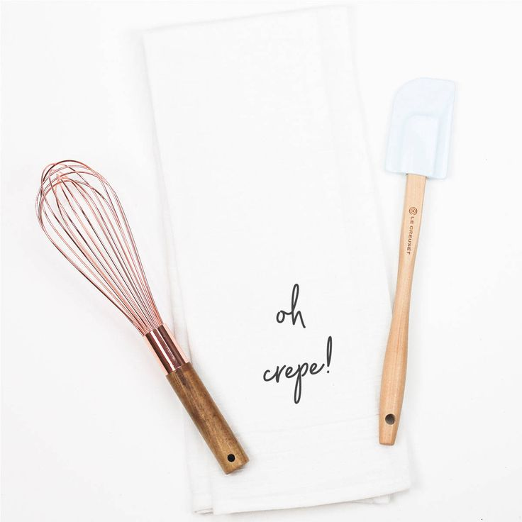 Funny Baker Gift Dish Towel - Oh Crepe Cooking Quote Gift for Pastry Chef - Funny Baker Gift - Funny Kitchen Quotes - Baking Cooking Quotes