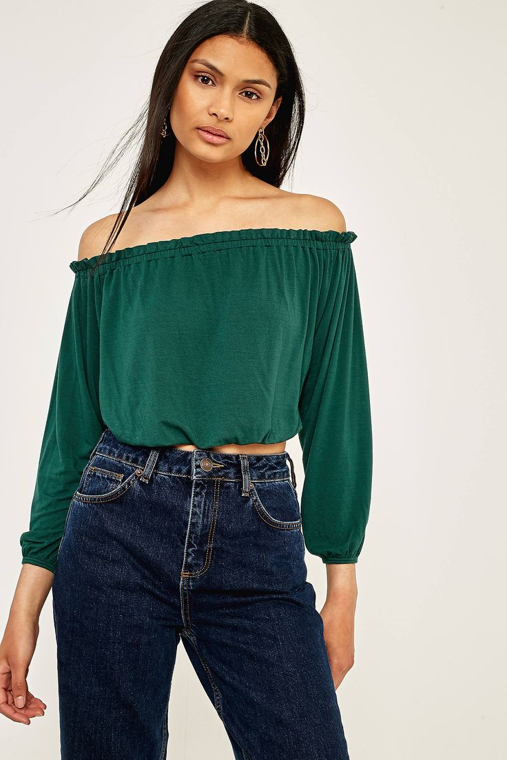 Slide View: 1: Pins & Needles Bardot Off-The-Shoulder Batwing Top