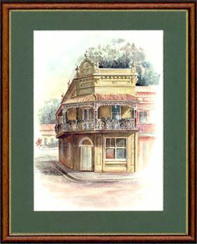 Olga Gostin… Victorian Corner Shop,  Paddington, Sydney, Australia... A former corner shop, with a residence above, this Paddington building is at the end of a row of terraces. The filigreed lace of the balcony is very well preserved...