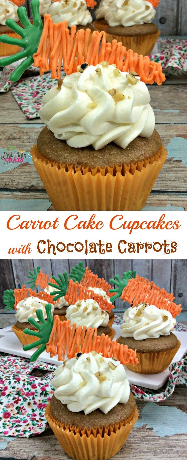 Carrot cake isn't only for Easter, but since it's early this year, we are sharing a Carrot Cake Cupcakes Recipe with Chocolate Carrots. In honor of National Carrot Cake day, we thought it fitting to share the perfect recipe for it.
