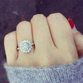La bague de demande en mariage