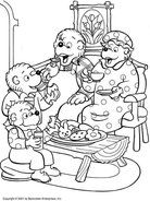 Berenstain Bears Teatime Coloring Page