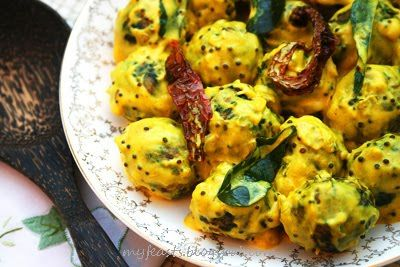 Plaintain & Spinach Kofta in Yogurt Sauce - use vegan yogurt which might need thickened or silken tofu blended smooth with citrus.