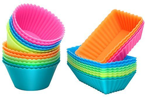 Silicone cupcake mold Features: Temperature range from -40 to +230°C. Safe to use in ovens, microwave ovens, dishwashers and freezers. , non-toxic, odorless, harmless to health. Non-stick, flexible and easy to clean. Care and use: (1) Don't impact violently or scratch with sharp... - http://kitchen-dining.bestselleroutlet.net/product-review-for-ipow-thicken-silicone-cupcake-baking-muffin-cups-liners-molds-sets24pack/