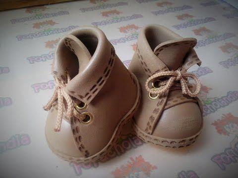 zapatos para muñequita iker - YouTube