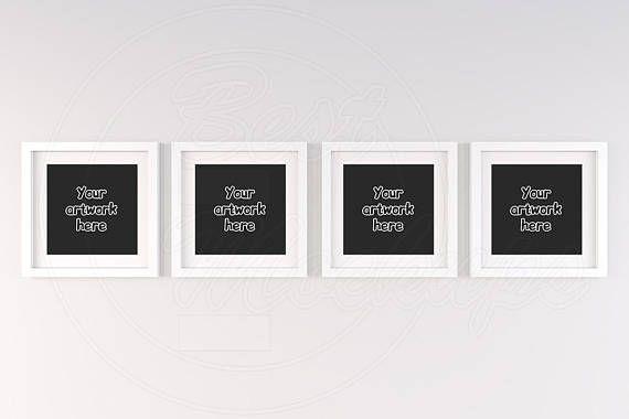 Square Frame Mockup Set Of Four Frame 4 Mockup White Frame Etsy