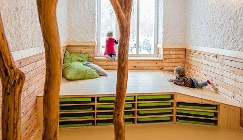 Innenarchitektur und Spielplatzgestaltung Kindergarten