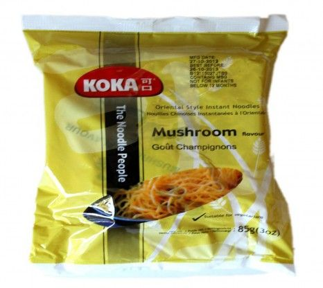 Koka Instant Mushroom Noodles 85G with shipping facilities available in India.