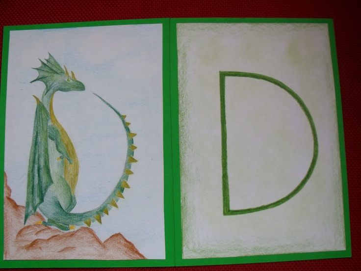 Waldorf - 1st Grade - Dreamy Dragon by student teacher from Centre for Creative Education in Cape Town