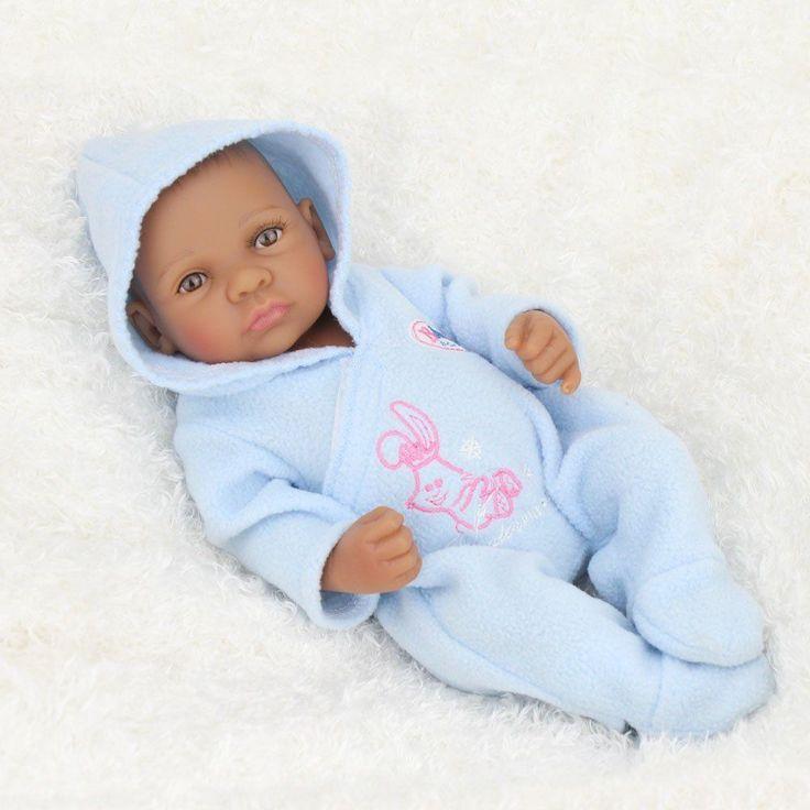 Lifelike African American Baby Doll Boy Real Looking Baby Doll Toy Handmade #NPKDOLL