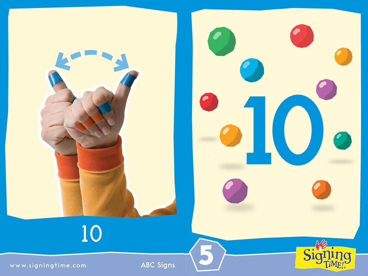 This week we learn the Sign for the number 10