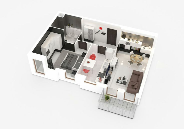 small apartment - 3D