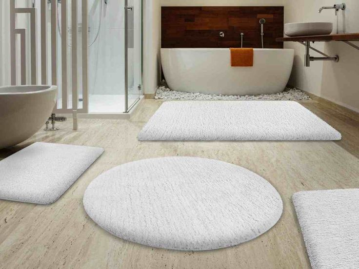 New Post white bathroom carpet