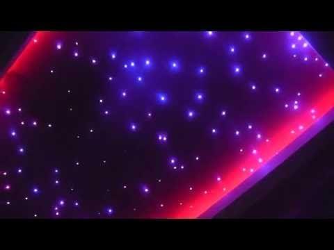 Zestaw Konstelacje Świetlne, piękne niebo w pokoju, migające światłowody