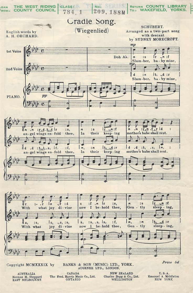 2-part choir composed by Franz Schubert. Arranged by S. Morecroft. Octavo. Published by Banks Publications.