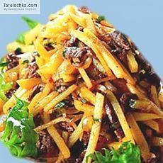 Рецепт - Корейский салат из картофеля с мясом (Камди-Ча) - Корейская кухня