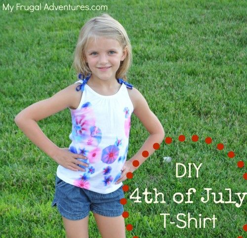 DIY Patriotic T-Shirt (Sharpie Tie Dye!)