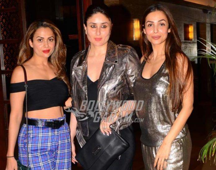 Malaika Arora along with sister Amrita and Friend Kareena kapoor Khan at Seema Khan's borthday bash