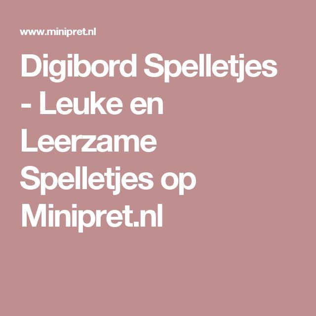 Digibord Spelletjes - Leuke en Leerzame Spelletjes op Minipret.nl