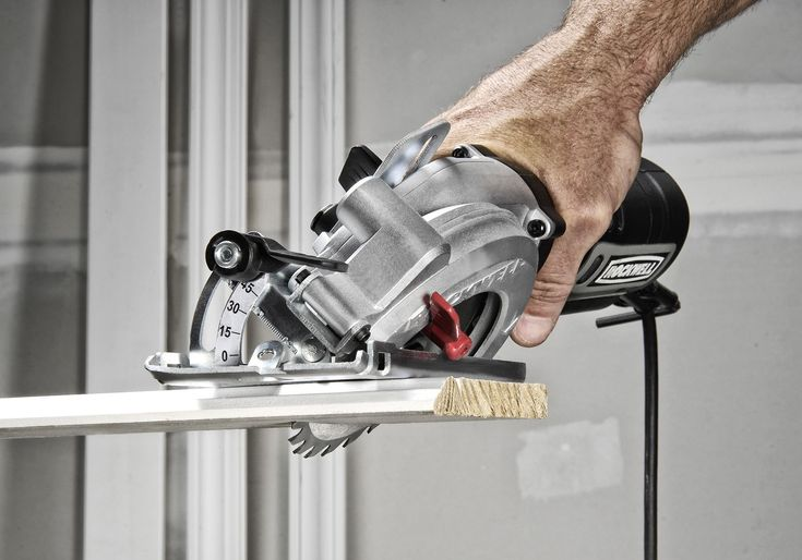 """Making a Case for the Compact Circular Saw: I recently tested the Rockwell Compact Circular Saw, which has a 4½"""" blade and weighs just 5 lbs.; less than half as much as a standard 7¼-in. circular saw."""