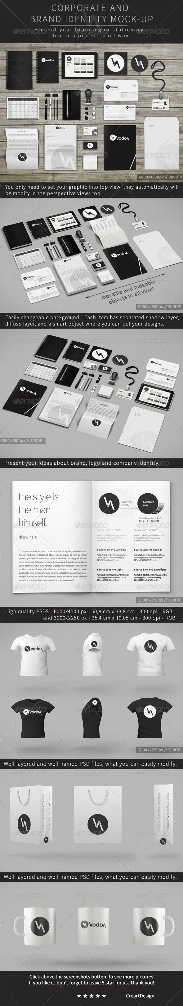 Corporate and Brand Identity Mock-Up Template